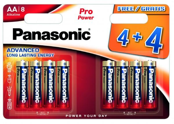 Panasonic Pro Power LR6PPG/8BW 4+4F