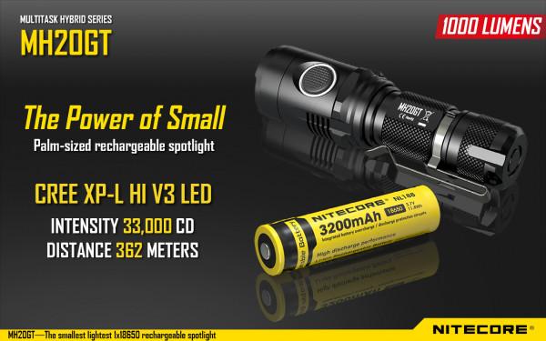 Nitecore LED-Taschenlampe MH20GT