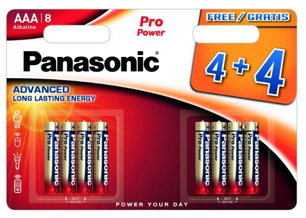 Panasonic Pro Power LR03PPG/8BW 4+4F