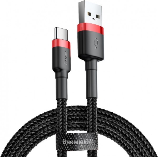 Baseus Cafule Series Cable (USB A-C) 0.5m Black-Red